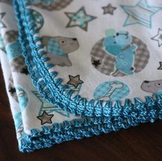 Several Different Crochet Edgings for Baby Blankets