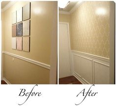 DIY molding :) I've been wanting to do this to my dining room.