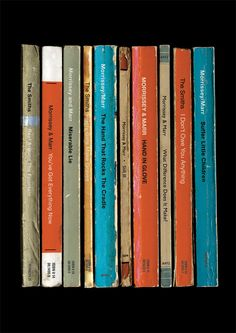 The Smiths 'The Smiths' Debut Album As Books Poster Print Morrissey & Marr Collected Works
