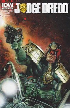 Judge Dredd IDW #1 Cover B Mint 7.00 ~ In the 22nd century, crime runs rampant in Mega-City One, home to over 400 million citizens, robots, criminals and lunatics. The only line of defense between anarchy and chaos are... the Judges. And Judge Dredd is the toughest of them all. In this, Judge Dredd's 35th anniversary year, IDW is proud to re-introduce Judge Dredd to America in this all-new ongoing series. Regular Cover A
