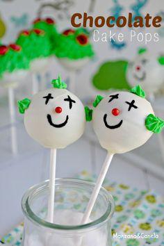 Manzana : Cake Pops infantiles de chocolate