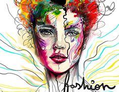 Kate Moss - Illustration