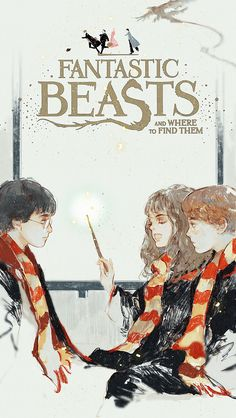 Harry Potter, Hermione Granger (who JK Rowling said should have darker skin) and Ron Weasley Harry Potter Fan Art, Harry Potter Anime, Magia Harry Potter, Fans D'harry Potter, Mundo Harry Potter, Harry Potter Drawings, Harry Potter Tumblr, Harry Potter Universal, Harry Potter World