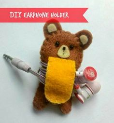 Felt Earphone Holder ... I Love it
