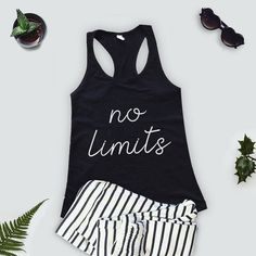 d995b09165 Women's Fitness Tank Top. Workout Tank. Fun Gym Tank Top. Racerback  burnout. No Limits Tank Top. Fit. Gym Tank TopsMuscle Tank TopsSummer ...