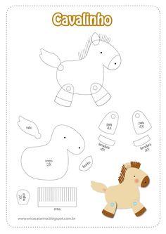 DIY Felt Horse - FREE Pattern / Template
