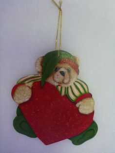 Christmas Ornament - Tole Painting, hand painted : T7 by CarolsCreations77 on Etsy