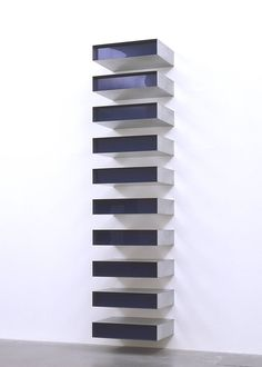 Donald Judd, Untitled, 1980, Steel, aluminum and perspex, 2229 x 1016 x 787 mm, The Tate Modern Museum, London