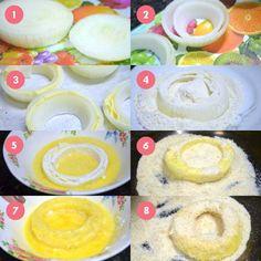 Se Cebola Empanada já é gostoso, agora imagina recheada com mussarela..