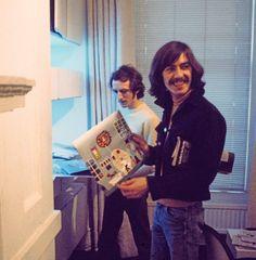 "George with his ""Eletronic Sounds"" vinyl album ."