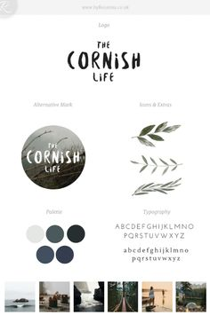 Seeing a Brand Progression with The Cornish Life (a brand update and blog redesign)   byRosanna
