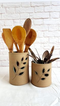 Items similar to Ceramic Utensil Holder, Utensil Crock, Utensil Jar, Utensil Caddy, Rustic Kitchen D Ceramic Utensil Holder, Utensil Caddy, Kitchen Utensil Holder, Kitchen Utensils, Kitchen Gadgets, Kitchen Cabinets, Slab Pottery, Ceramic Pottery, Thrown Pottery