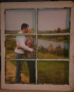 Use an old window as a frame!