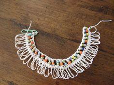 Crochet Symbols, Crochet Chart, Crochet Stitches, Crochet Patterns, Beaded Lace, Beaded Jewelry, Beaded Bracelets, Fast Crochet, Hairpin Lace Crochet