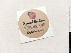 60 Raspberry Jam Wedding Mason Jar Labels / Stickers / Wedding Favors / Thank You Gifts / Once Upon Supplies