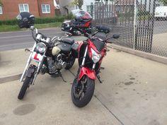 Honda cb500f and daelim daystar 125