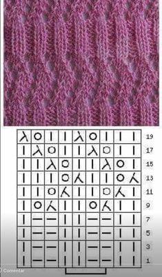 Mariya Shatkovska's media content and analytics Knitting Help, Knitting Stiches, Knitting Charts, Easy Knitting, Knitting Socks, Knitting Needles, Puff Stitch Crochet, Knit Crochet, Knit Headband Pattern