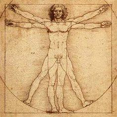 O Homem Vitruviano - Leonardo di Ser Piero da Vinci  - Se observarmos atentamente vamos encontrar um perfeito equilibrio entre o homem, o quadrado e o circulo.