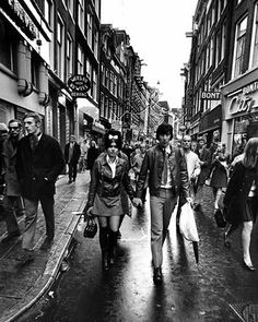 1960's. View on the Kalverstraat in Amsterdam. Photo Cor Jaring. #amsterdam #1960 #Kalverstraat