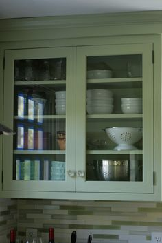 Gena's Farrow and Ball Cooking Apple Green cabinets