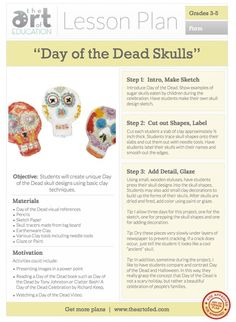 Day of the Dead Skulls: Free Lesson Plan Download