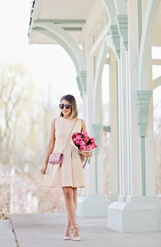 Dress: Chicwish (c/o) // Pearl Earrings: Nordstrom // Sunglasses: Karen Walker Clutch: Saint Laurent // Watch: Kate Spade // Rings:...
