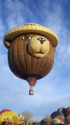Smokey Bear Balloon---We saw him at the balloon festival
