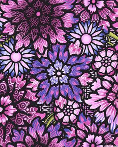 Paradise - Stained Glass Visions - Radiant Orchid Purple