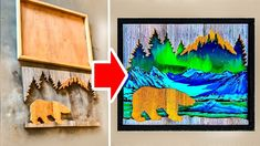 Check out this beautiful compilation of amazing paintings framed by nature-inspired wood cutouts. Faith Montgomery is the creator of these artworks. Cork Wood, Amazing Paintings, Wood Cutouts, Box Art, Painting Frames, The Creator, Cartoon, Make It Yourself, Signs