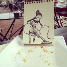 Illustrator Creates Doodles That Interact With Their Surroundings