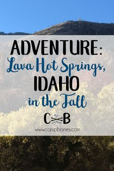 Our family travel log of our weekend trip to Lava Hot Springs, Idaho, a unique family-friendly resort town featuring odor-less natural mineral hot springs. We traveled in our vintage camper with our toddler and dog. Travel Log, Family Travel, Rv Travel, Family Camping, Camping Tips, Travel Destinations, Travel Tips, Idaho Hot Springs, Hot Springs Arkansas
