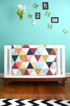 Modern baby quilt by Ivie Baby | Cool Mom Picks