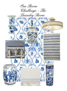 Chinoiserie Chic: One Room Challenge - My Laundry Room Inspiration
