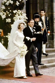 MARCH 1966 Queen Beatrix of the Netherlands marries Claus von Amsberg in Amsterdam.