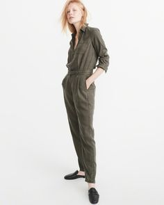 dd59e5f0eaee A Favorite for Fall - Olive Jumpsuit Olive Jumpsuit