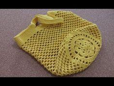 Ecobag de Barbante - Rápida e Econômica - Nó Chic Crochê - Kátia - YouTube Crochet Coat, Crochet Purses, Love Crochet, Diy Crochet, Single Crochet, Crochet Designs, Accessoires Divers, Easy Crochet Stitches, Crochet Stitches