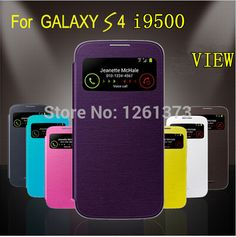 Wake/Sleep Function open view window Back Battery Cover Flip Case For Samsung Galaxy S4 SIV S 4 i9500 9500 Ab2