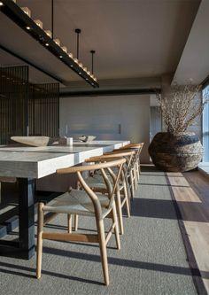 香港郑中设计事务所新办公室--现代中式禅...