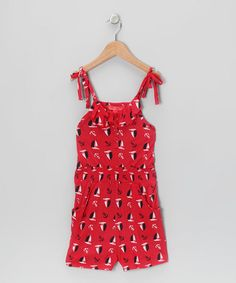 Take a look at this Red Sailboat Romper - Girls by Funky Diva on #zulily today!