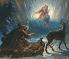 Väinämöinen and The Maiden of The North by R.W Ekman