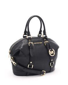 My new purse!!! Push Present!!!! MICHAEL Michael Kors Medium Bedford Satchel, Black.