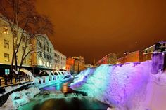 The Frozen Waterfalls Of Norrköping, Sweden