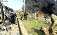 16 muertos en un atentado contra un convoy de evacuados cerca de Alepo