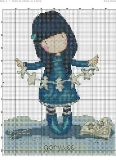 . Cross Stitch Charts, Cross Stitch Designs, Cross Stitch Patterns, Decor Crafts, Diy And Crafts, Monster High, Crochet, Needlework, Free Pattern