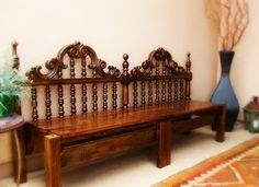 Making a bench out of an old ugly headboard!