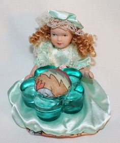 Victorian Porcelain Doll Pin Cushion  Sewing  by MuzettasWaltz, $20.00