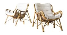 Buy Bamboo and Wicker Lounge Chairs by Laurids Lonborg by The Swanky Abode - Limited Edition designer Lounge Chairs from Dering Hall's collection of Mid-Century Modern Modern Lounge Chairs.