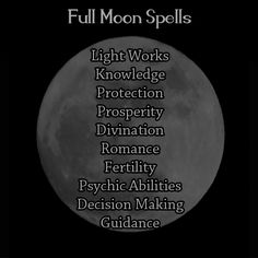 What Types of Spell Work To Do By: Moon Phase