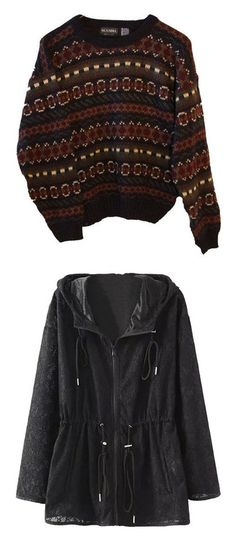 """""""Sweaters & Jackets #5"""" by aaronhainsley ❤ liked on Polyvore featuring tops, sweaters, shirts, jumpers, tribal sweater, hipster sweaters, zig zag shirt, fitted tops, tribal print sweaters and outerwear"""