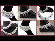 Rajwadi Payal Designs - YouTube Payal Designs Silver, Silver Anklets Designs, Silver Payal, Anklet Designs, Ankle Jewelry, Hair Jewelry, Gold Jewelry, Jewelry Rings, Pakistani Fashion Casual